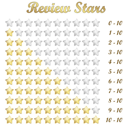 vector of golden review stars for rating Vector