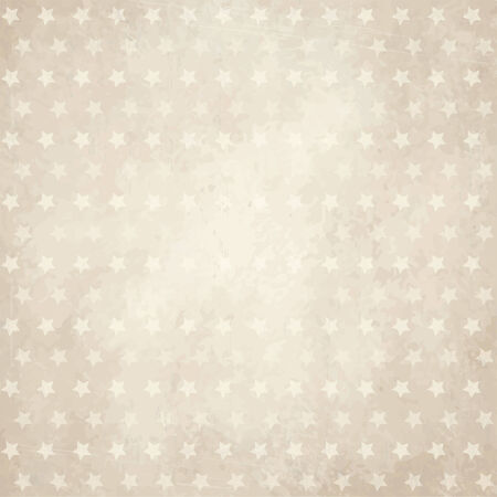 second hand: vector of old vintage paper background with stars