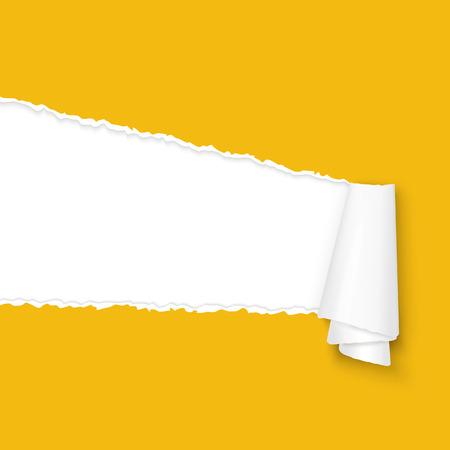 Vektor aufgerissen Papier orange gefärbt Standard-Bild - 32312763