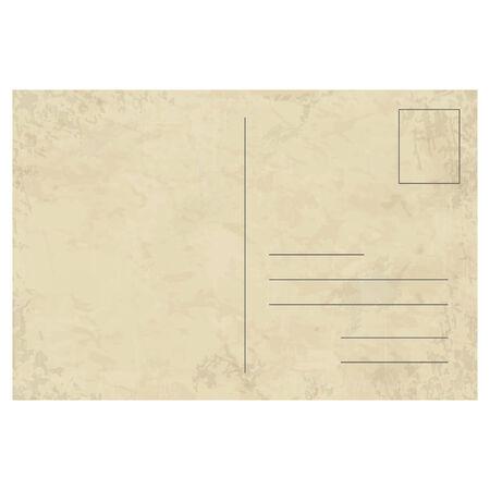 sjabloon vector van een oude vintage briefkaart