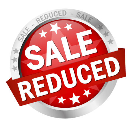 reduced value: Button with banner - SALE reduced