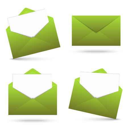 urgently: Collection - envelope with note green