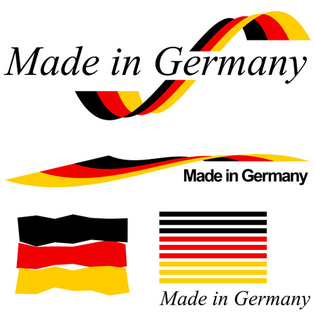 collection of seals of quality MADE IN GERMANY Illustration