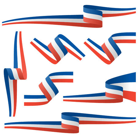 french flag: collection - french country flag banners