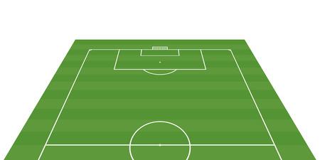 football field 3-D background illustration Illustration