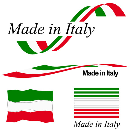 collection of seals of quality MADE IN ITALY 矢量图像