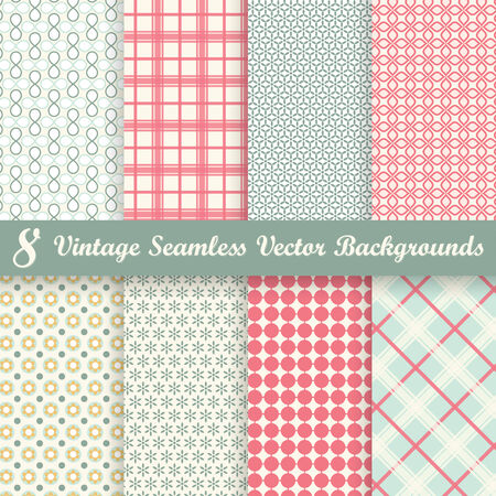 soiled: collection of eight seamless vintage backgrounds  Illustration
