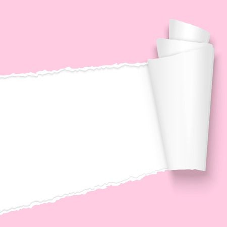 ripped open paper colored pink Vector
