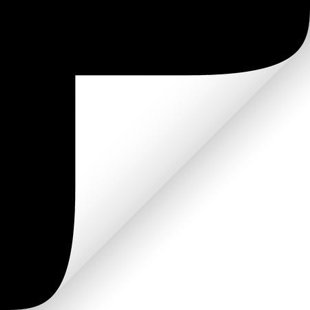 Paper lower right corner black