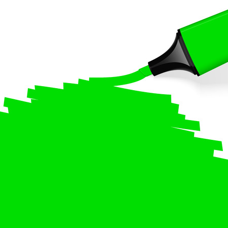 characterize: green highlighter with copyspace Illustration