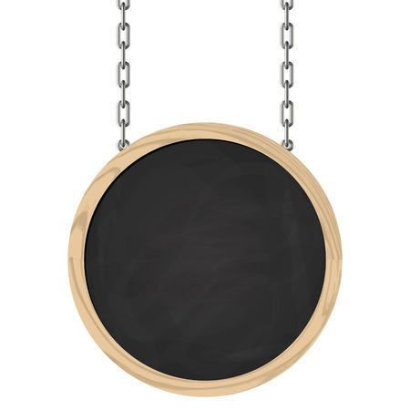 circular chain: blackboard on chains with copyspace Illustration