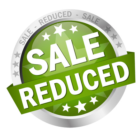 reduced value: Button with banner - SALE - Reduced Illustration
