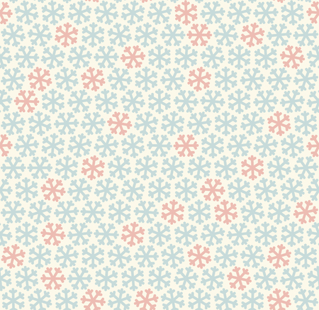 flurry: seamless blue and red colored snowflake background