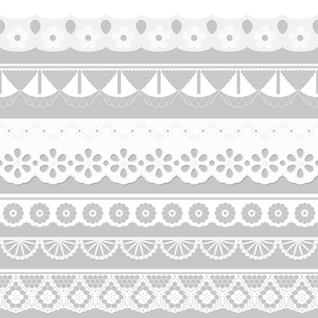 festoons: Big collection seamless tissue ribbons - festoons Illustration