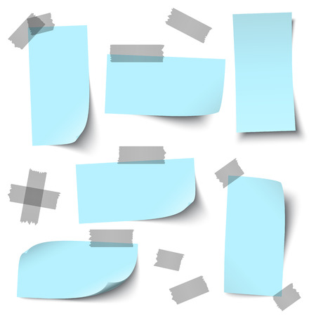 vector of empty papers collection with office accessories Vector