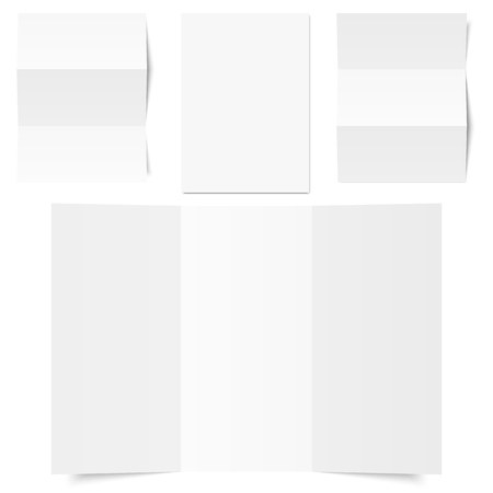 vector - collection of different white writing papers