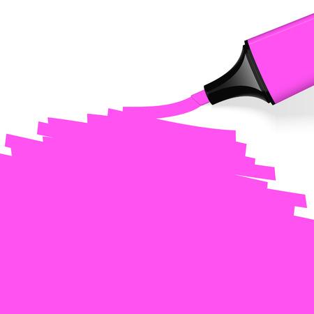 characterize: rotulador de color rosa con la marca Vectores