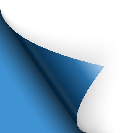 paperboard packaging: paper corner turn over blue