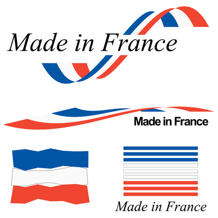 collection of seals of quality MADE IN FRANCE Vector