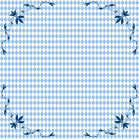 beer garden: vector of Oktoberfest background seamless with ornament