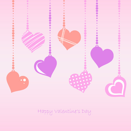 hangtag: hangtag with Hearts and text Happy Valentines day