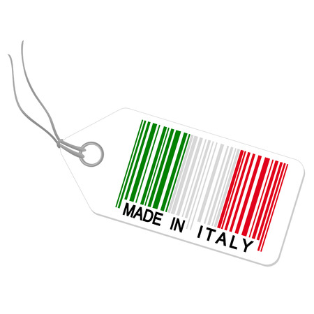 internationally: hang tag with made in italy Illustration