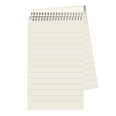 textfield: empty block of gray paper with lines Illustration