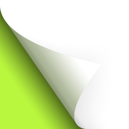 chit: Paper or page turning over bottom left green