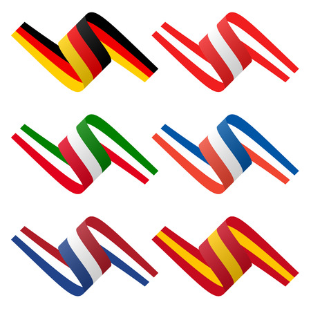 made in spain: collection - european country flag banners