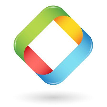 symbolism: round business design in four colors for teamwork symbolism Illustration