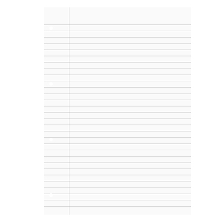 din: isolated white paper with lines like paper in school Illustration
