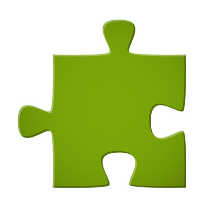 퍼즐 조각은 연결 상징 녹색 색깔 일러스트