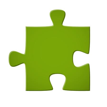 Pièce de puzzle coloré en vert pour la connexion symbolique Banque d'images - 35741919
