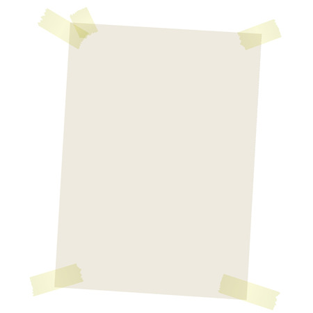 stuck: brown paper with yellow colored transparent adhesive stripes Illustration