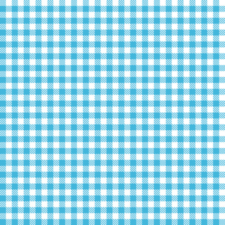 endless blue checkered table cloth pattern for background design