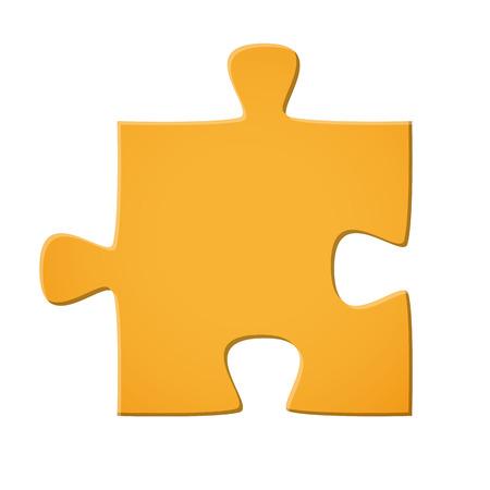 パズルのピースを接続象徴黄色