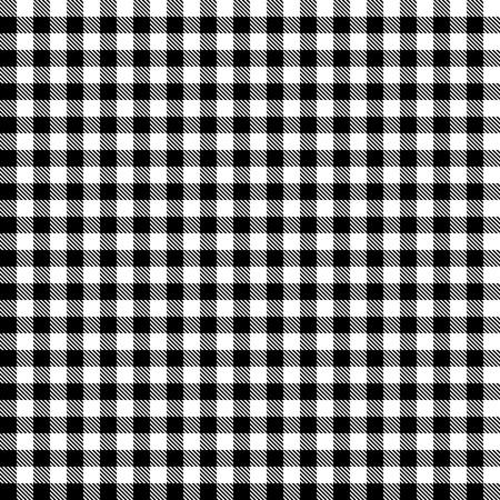 quadratic: senza soluzione di continuit� a scacchi nero tovaglie sfondo modello Vettoriali