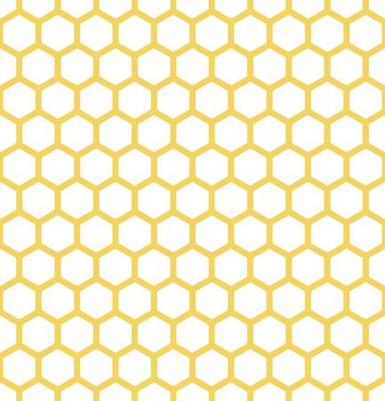 eindeloze witte en gele achtergrond met bijen honingraat