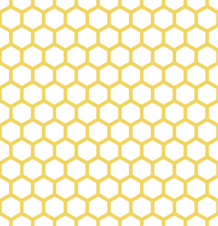 endless white and yellow background with bees honeycomb