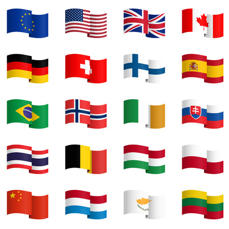 country flags: big collection of country flags No.2 vector