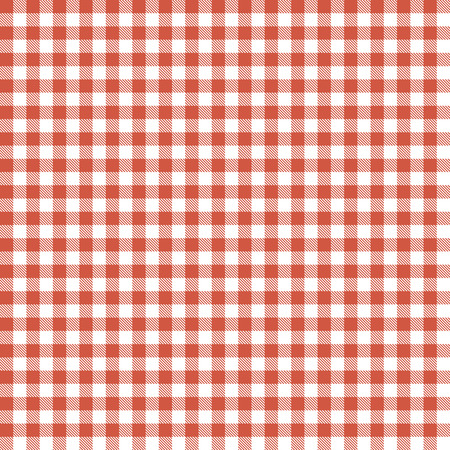 checkered seamless table cloths pattern red colored Illustration