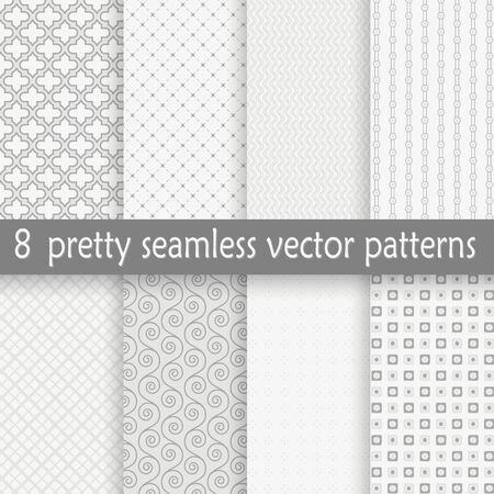 pretty: vector collection of eight seamless pretty backgrounds