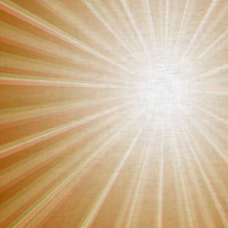 yellowed: illustration of retro grunge light rays background