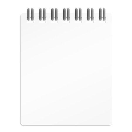 white business calendar with copy space for notes Vector