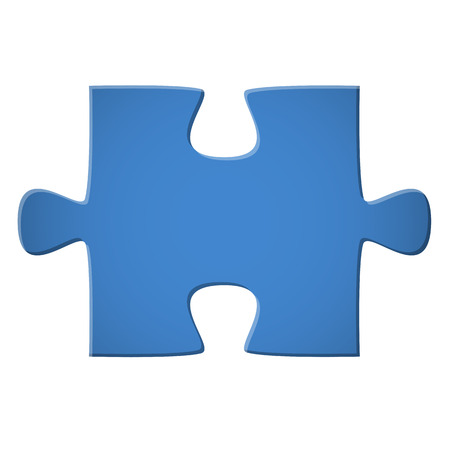 blue puzzle piece for business teamwork symbolization