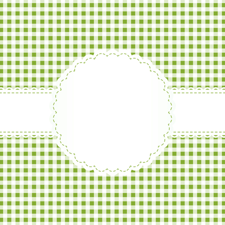 banderole: background with checkered pattern and empty white banner Illustration