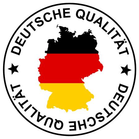 ronde patch met tekst Duitse kwaliteit (in het duits Deutsche Qual? t)