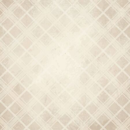soiled: vector of old vintage paper background with checkered pattern Illustration