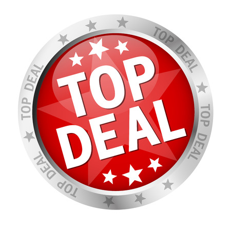 Button with banner and text Top Deal Illustration