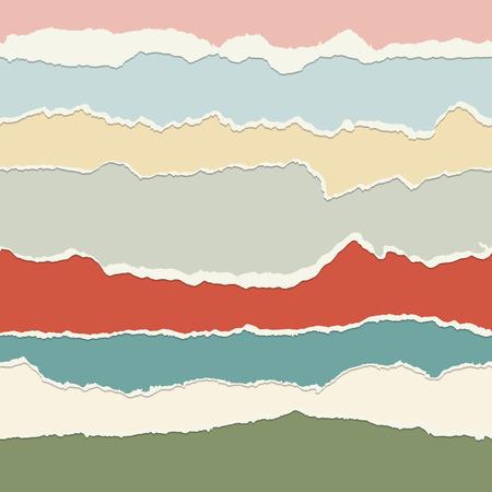シームレスな紙のコレクションは、複数の色をリッピングします。